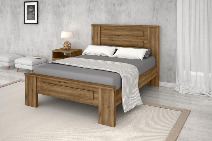 cama MONTE CARLO - Acabamento Amadeirado Touch Dimensões: Altura 1160 mm Largura 1500 mm Profundidade 1960 mm