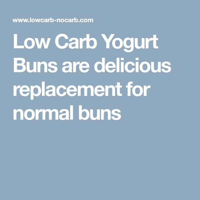 Low Carb Yogurt Buns are delicious replacement for normal buns