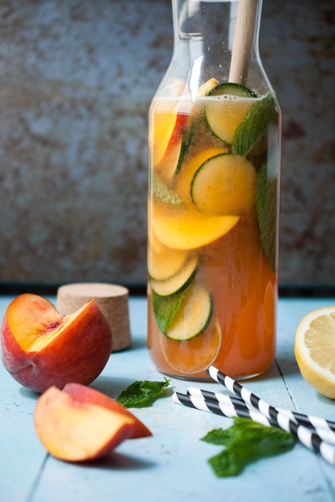 This peach lemonade gives me life. Like really. It's the most refreshing, fun, and most beautiful drink I've ever made. It's got all the flavors of summer. Fresh peach, cool…