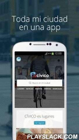 CIVICO  Android App - playslack.com ,  CÍVICO es toda mi ciudad en una app: lugares, noticias, entretenimiento, deporte, cine, ofertas, bicicletas, domicilios, clima, policía y mucho más a mi alrededor. CÍVICO es construido por la gente y para la gente. C