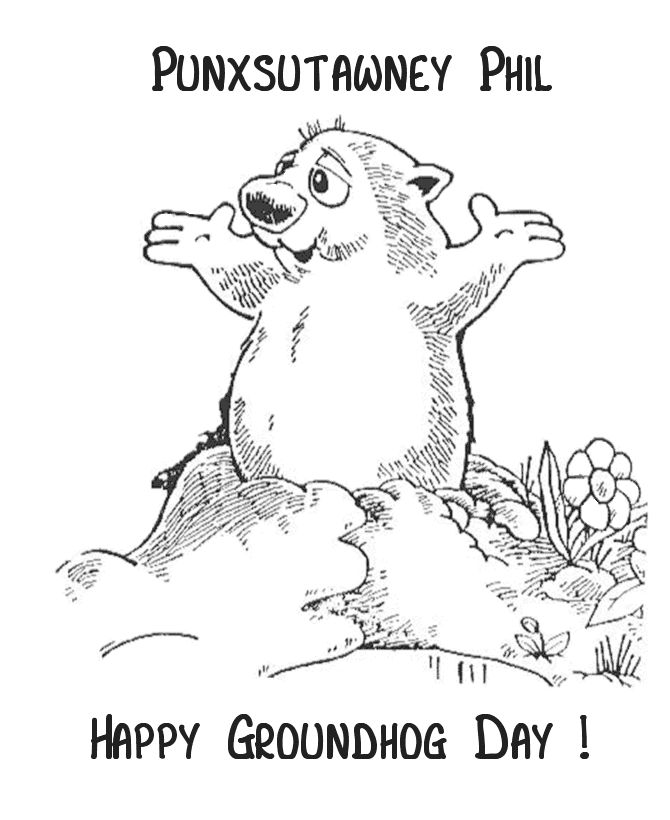 ground hog day coloring sheet