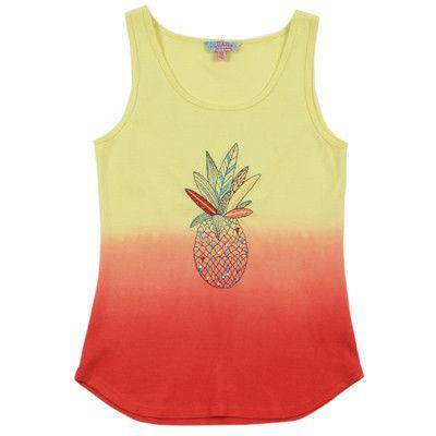 Tahlia by Minihaha girls Miami dip dyed Pineapple singlet
