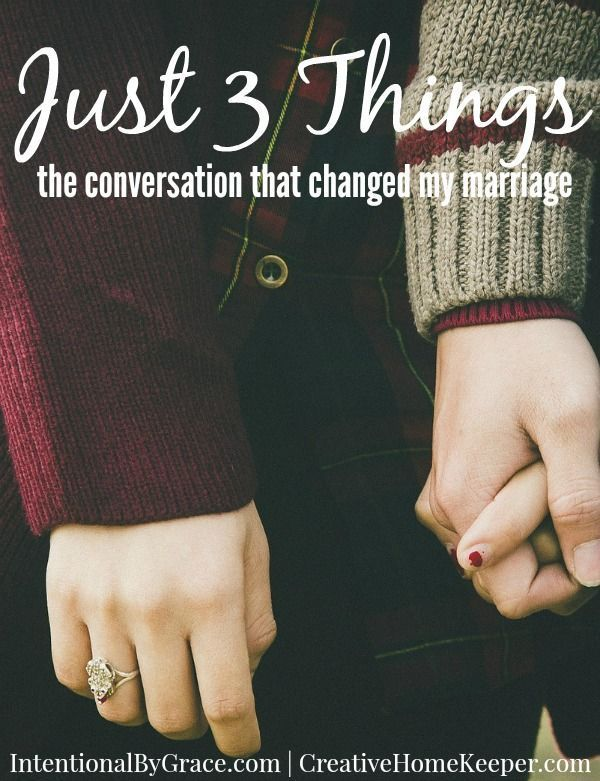 The conversation that changed my marriage. Sometimes a simple, intentional conversation can make a big difference!