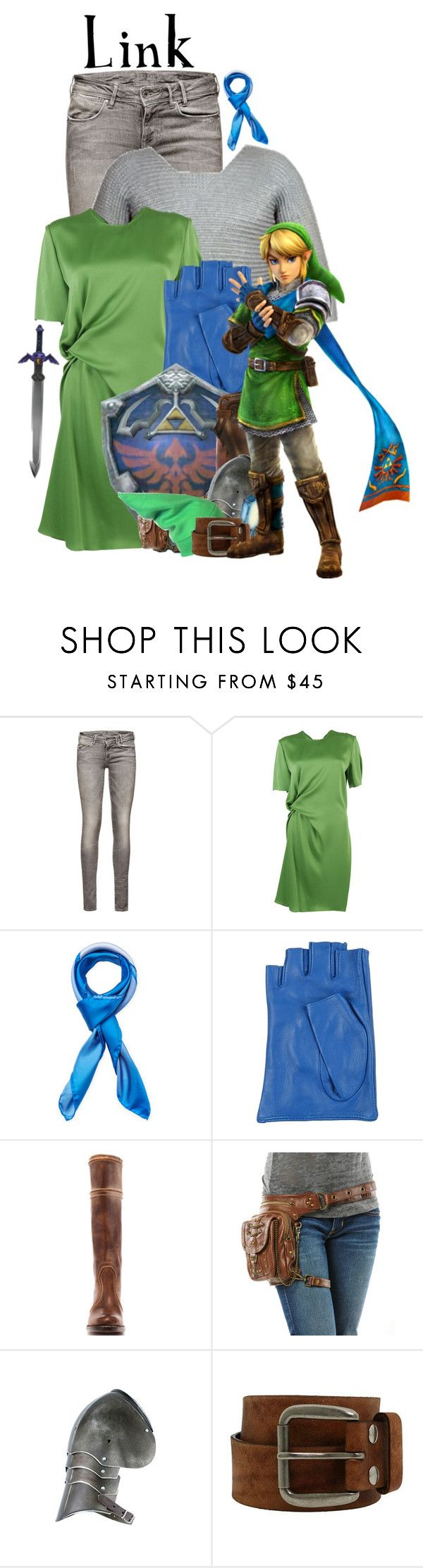"""Link: Legend of Zelda"" by jleigh329 ❤ liked on Polyvore featuring Lanvin, Blumarine, Frye, INC International Concepts and Bed