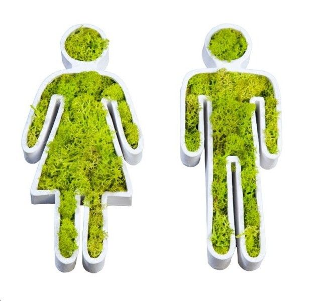 Décopatch Toilette :   Couleur : Blanc, lichen vert citron  Dimensions: 20 x 20 cm