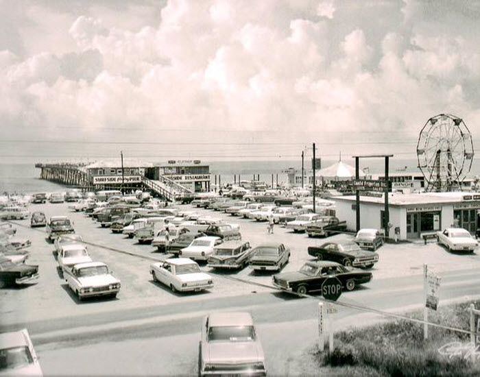 Surfside Pier 1967 | Surfside Beach | South Carolina | Surfside Beach, SC is the next town South of Myrtle Beach and the pier is still a favorite place to just relax and enjoy the beautiful Atlantic Ocean.