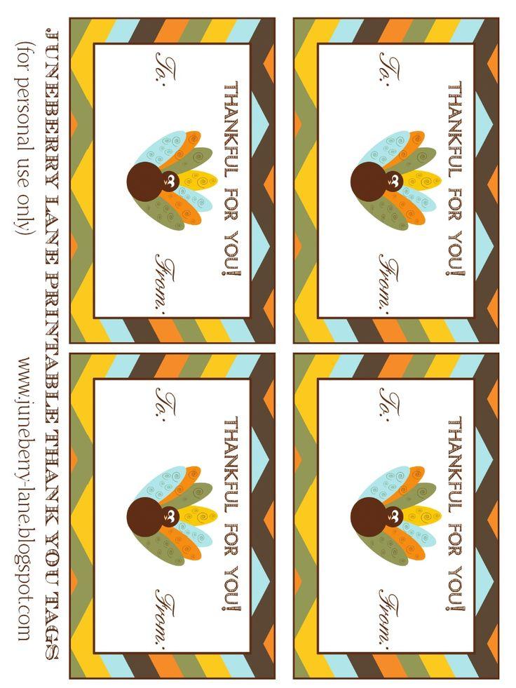 Free Printable Thanksgiving Gift Tags