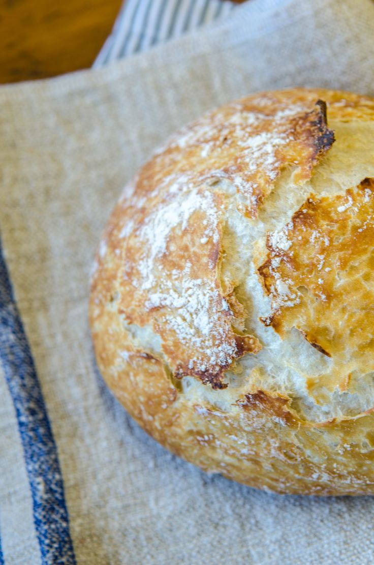 No-Knead Artisan Bread from Bob's Red Mill. Easy and delicious!