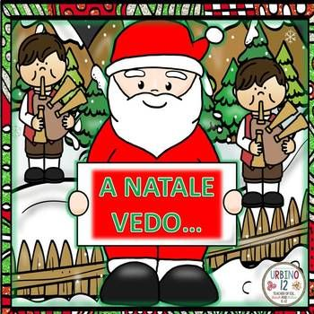 This Italian resource is perfect for teaching children about the Christmas season in Italy. Your students will be able to trace the Italian word and color these seventeen beautifully illustrated whimsical Christmas scenes. Resource also includes ten Christmas shaped mazes for