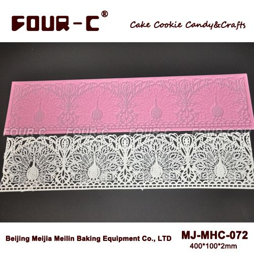 2015-New-peacock-shape-lace-mat-silicone-stencil-long-lace-silicone-molds-fondant-lace-mould-cake.jpg (500×500)