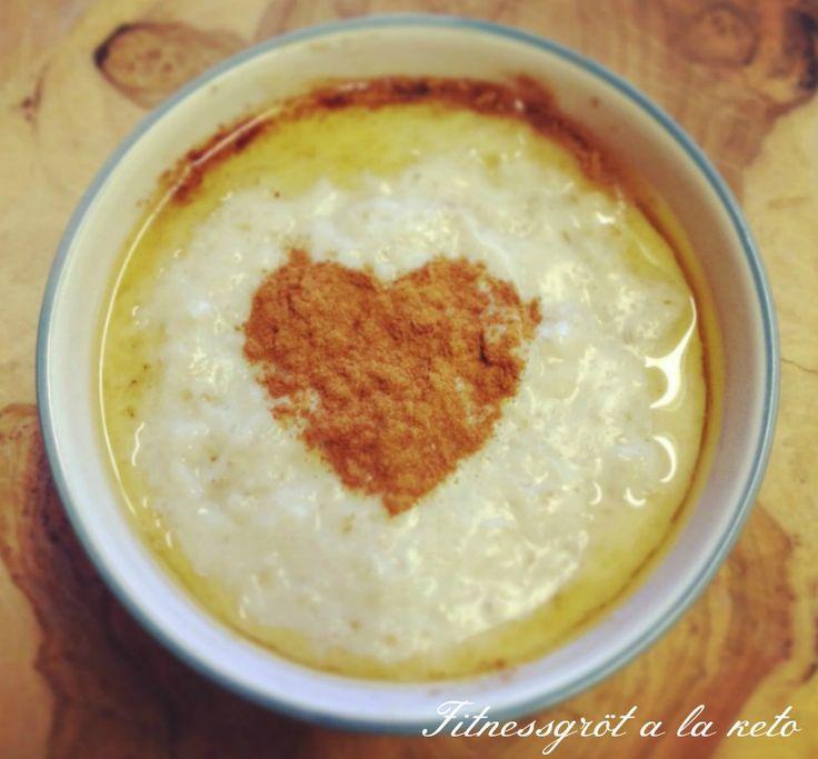 Recept på Fitnessgröt a la keto, den är hur god som helst och väldigt kolhydratsnål!