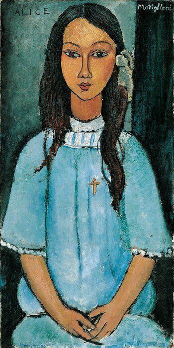 Alice - Modigliani.Art Modigliani, Amadeo Modigliani, Modigliani 1884, Amadeomodigliani, Modigliani Art, Staten Museums, Clemente Modigliani, Alice, Amedeo Modigliani