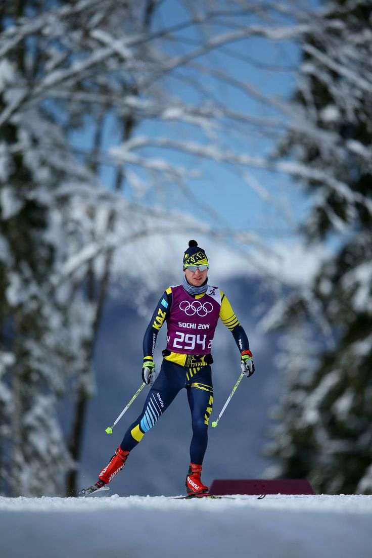 DAY 13:  Alexey Poltoranin of Kazakhstan competes during the Cross Country Men's Team Sprint Classic http://sports.yahoo.com/olympics