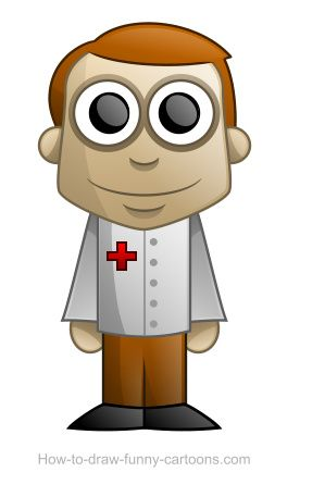 Health is a big issue throughout the world and having access to a doctor is, unfortunately, something that is not possible for many people. To pay a tribute to all doctors around the world, let's draw a cute character ready to take care of some patients.