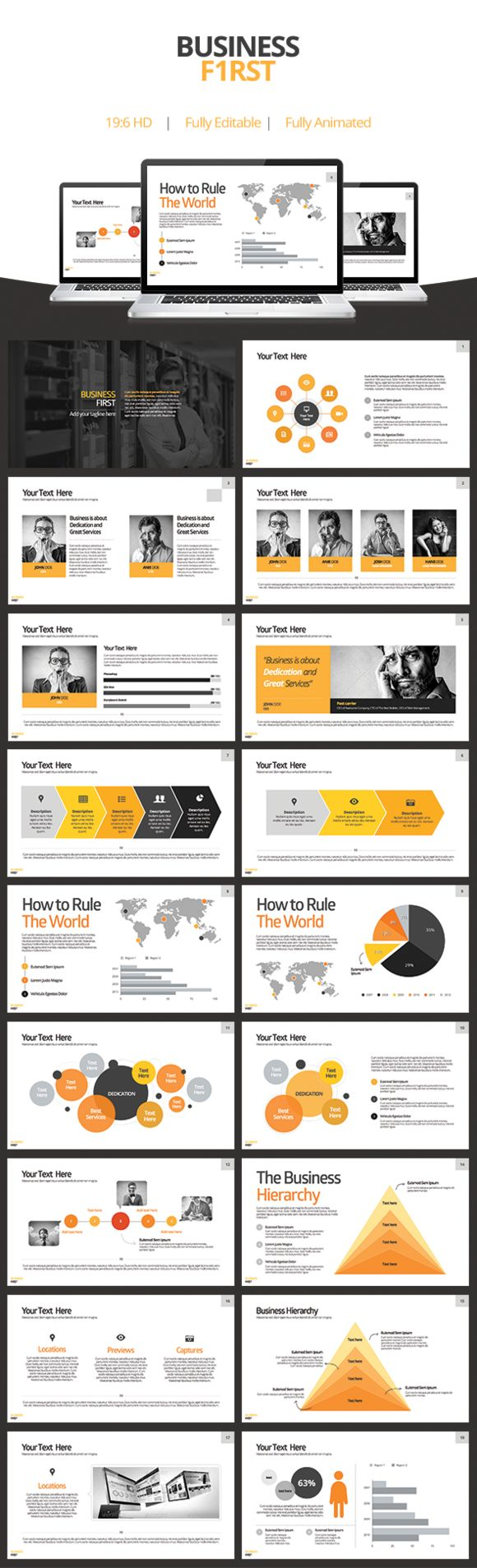 Business First - Keynote Template by Slidehack on Creative Market