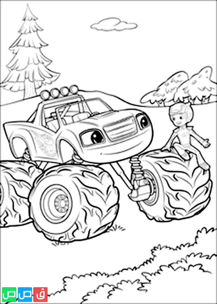 Blaze And The Monster Machines Coloring Pages Pdf Blaze And The Monster Machine Is An Monster Coloring Pages Monster Truck Coloring Pages Truck Coloring Pages