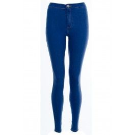 Alexa High Waisted Mid Blue Skinny Easy Jeans - BUY IT NOW ONLY £20 AT www.fuchia.co.uk