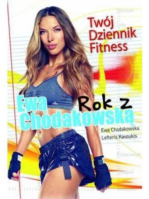 """Książka """"Rok z Ewą Chodakowską. Twój Dziennik Fitness"""" zawiera specjalne zestawy ćwiczeń na każdą partię ciała, tabele planów treningowych i kontroli wyników, porady dotyczące diety, jak i motywacje na każdy miesiąc. Ewa zostawiła w książce również miejsce na notatki, gdzie można zapisywać kolejne etapy naszej przemiany."""