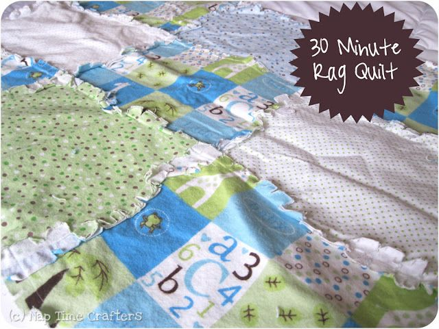 http://blog.peekaboopatternshop.com/2012/02/30-minute-rag-quilt.html