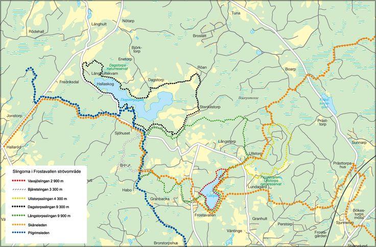 Karta: Frostavallen - Dagstorpssjön