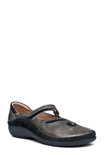 $147.65-$169.00 Naot Women's Matai Casual Shoes,Metal Leather/Black Suede,39