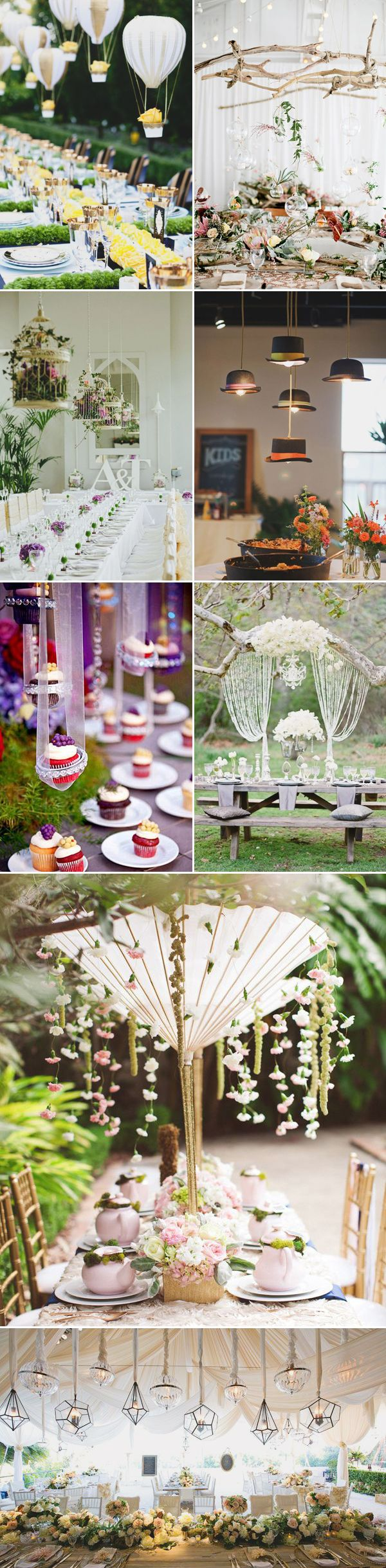 Rent ostrich feather centerpieces wedding amp party centerpiece rentals - Beauty From Above 27 Romantic Hanging Centerpiece Ideas