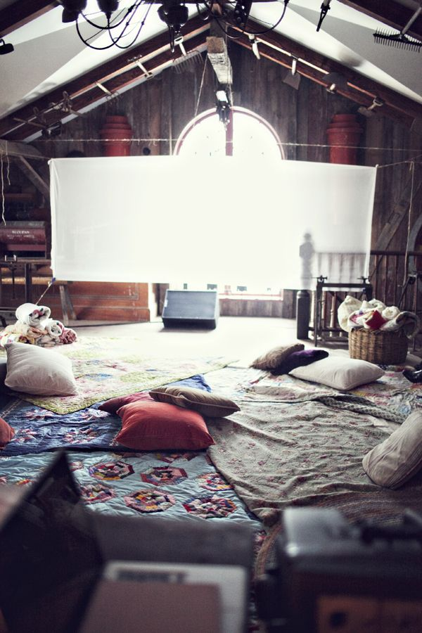 Movie Night - movie theater loft, lounging on the floor for whatever activity you'd like.
