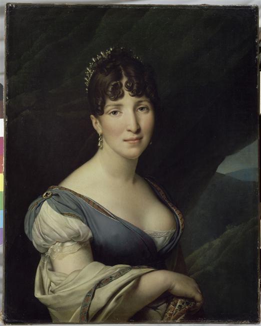 Portrait de la reine Hortense par Anne-Louis Girodet De Roussy-Trioson (1767-1824)