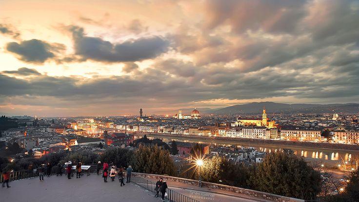 Florence at night by Dimitris Koskinas on 500px