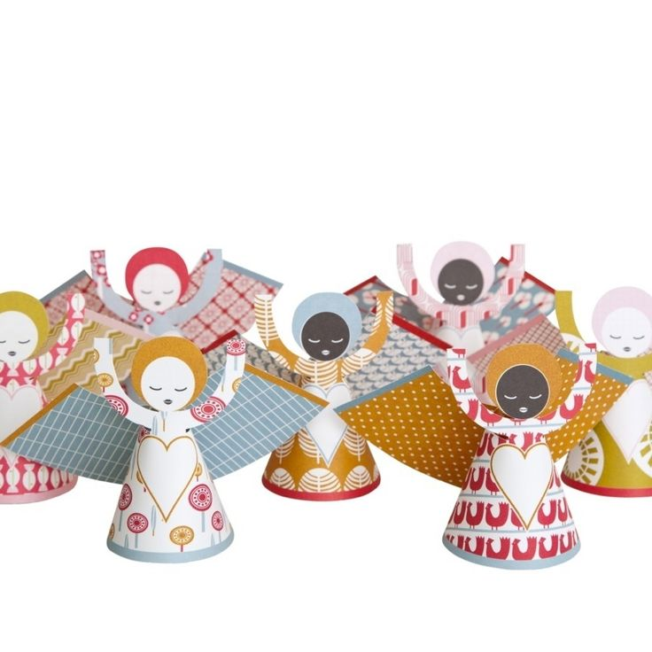 CHRISTMAS IN #HTFSTYLE - Sing Christmas angel hanging cards/decorations (pack of 7) | hardtofind.