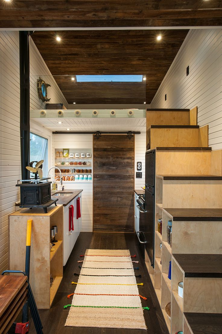Eco-friendly tiny house offers reclaimed style and drawbridge deck - Curbedclockmenumore-arrow : It's a special one