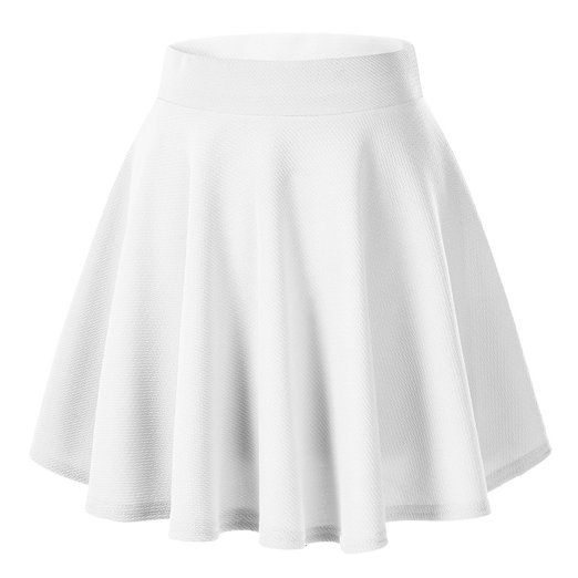 Urban CoCo Women's Basic Solid Pleated Mini Skate Skirt Versatile Stretchy: Amazon.ca: Clothing & Accessories
