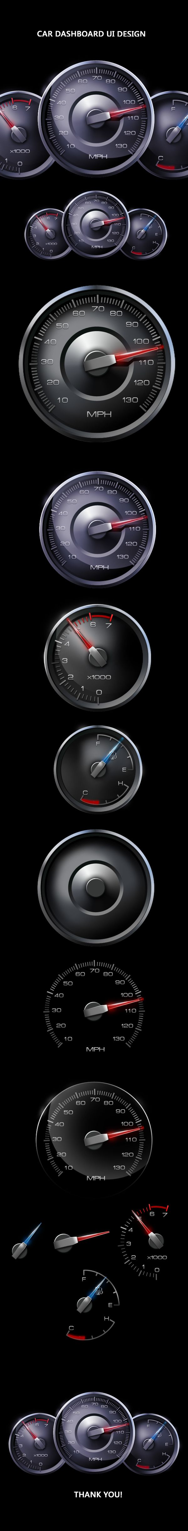 Car Dashboard Ui Design by Mahesh Lonkar, via Behance