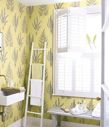 I like shutters - lets lots of steam out and retains privacy in bathrooms. Nice compact sink.