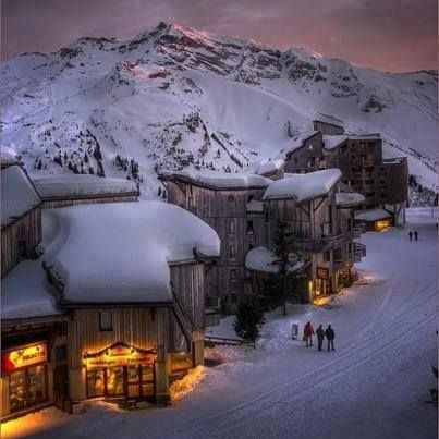 Alpine Glow Sunset,Trois Vallees, The French Apls
