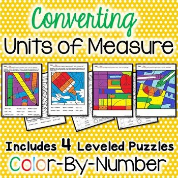 Converting measurement units can be challenging! Color-by-number activities are a great way to engage students and get them excited to practice converting units of measure. This product focuses on converting  customary and metric units of measure (mass, length, and capacity).