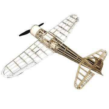 Mini Zero Fighter 435mm Wingspan Balsa Wood Laser Cut KIT d'avion RC