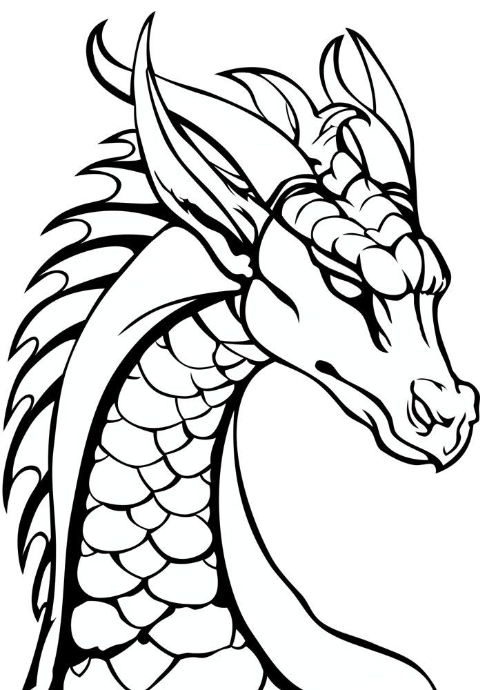 Dragon Head Coloring Page Youngandtae Com Dragon Coloring Page Dragon Head Drawing Simple Dragon Drawing