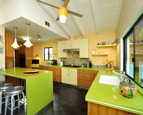 this is what I'm worried about with the green - we don't want it to look retro/ugly!!!    Green Mosaic Tile Design, Pictures, Remodel, Decor and Ideas - page 24
