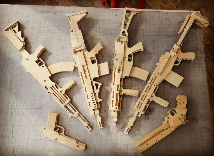 wooden diy rubber band guns