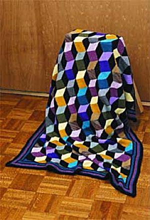 42 Best 3d Illusion Afghans Images On Pinterest Crochet