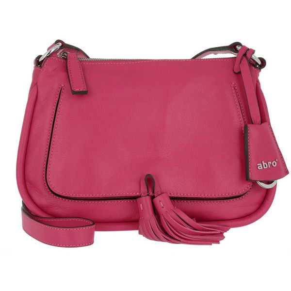 Abro Shoulder Bag - Leather Velvet Crossbody Bag Pink - in magenta -... ($240) ❤ liked on Polyvore featuring bags, handbags, shoulder bags, magenta, crossbody handbag, leather tote, pink leather tote, purses crossbody and shoulder handbags