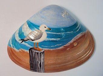Painted Clam Shells - RiverRockArt