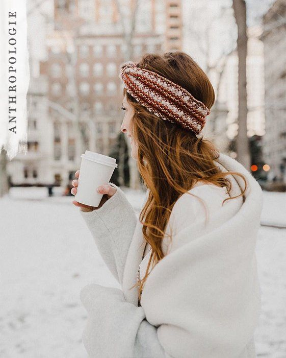 Tweed Bow Headband | Anthropologie winter accessories