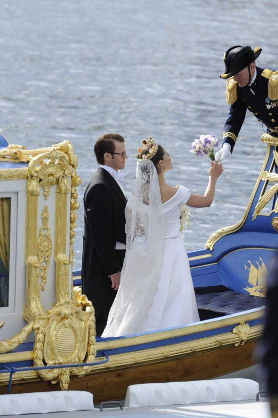 Victoria Daniel On The Wedding Barge