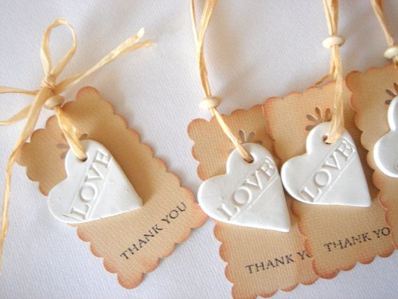 Favor Thank you Rustic Favor Tag Wedding Ceramic by accessory8