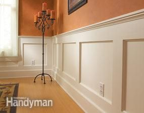 How to Build a Wainscoted Wall (Family Handyman) - Dining Room