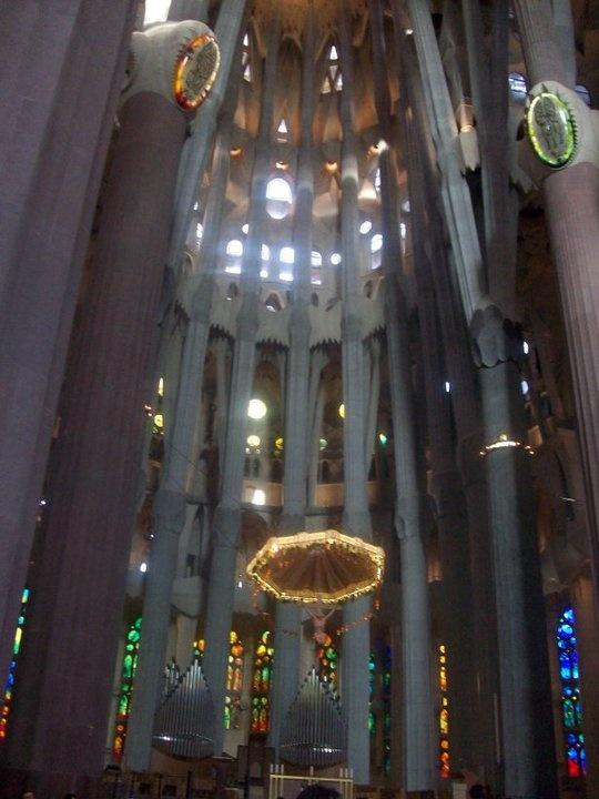 The sanctuary of La Sagrada Familia, Barcelona, Catalunya