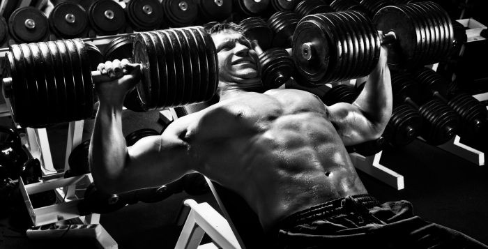 Brustmuskel Training, Schrägbankdrücken fliegend