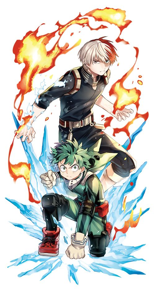 Boku no Hero Academia Todoroki Shouto, Midoriya Izuku